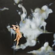 """Leap of Faith - 24"""" x 24"""" Oil Paint"""